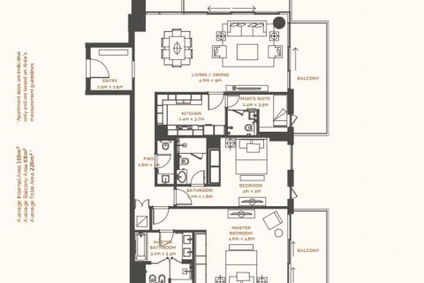 Продажа квартиры в Острове Саадият, Абу-Даби, ОАЭ 2 спальни, 169.92м2, № 869 - фото 12