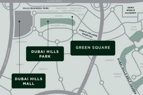 Продажа квартиры в Дубай Хилс Эстейт, Дубай, ОАЭ 2 спальни, 93м2, № 1431 - фото 14