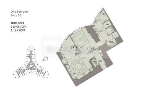 Продажа квартиры в Даунтауне Дубая, Дубай, ОАЭ 1 спальня, 110.1м2, № 3362 - фото 10