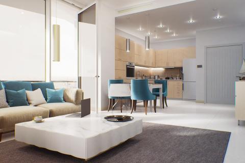 Жилой комплекс в Джумейра Лейк Тауэрс, Дубай, ОАЭ № 9534 - фото 1