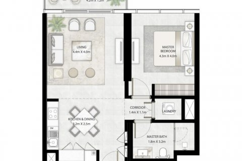 Apartment in Dubai, UAE 1 bedroom, 67 sq.m. № 866 - photo 7